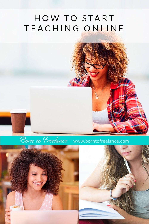 Start teaching online