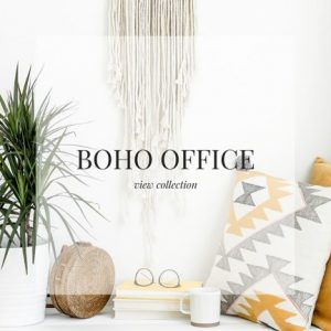 Boho Office Stock Images