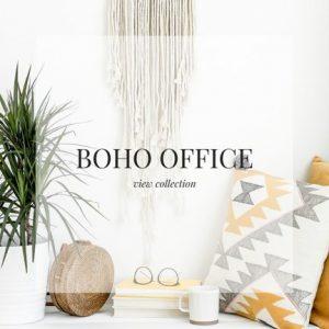 Boho Office Stock Images