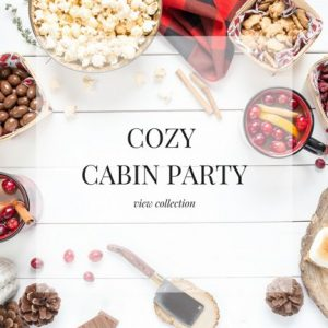 Cozy Cabin Party Stock Images