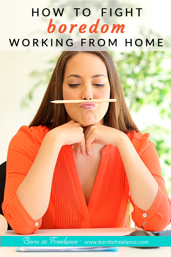 Fighting boredom is one of the main challenges you can face when working from home. What once seemed a dream life can become quite lonely. #workingfromhome #howtofightboredom #home-office #borntofreelance