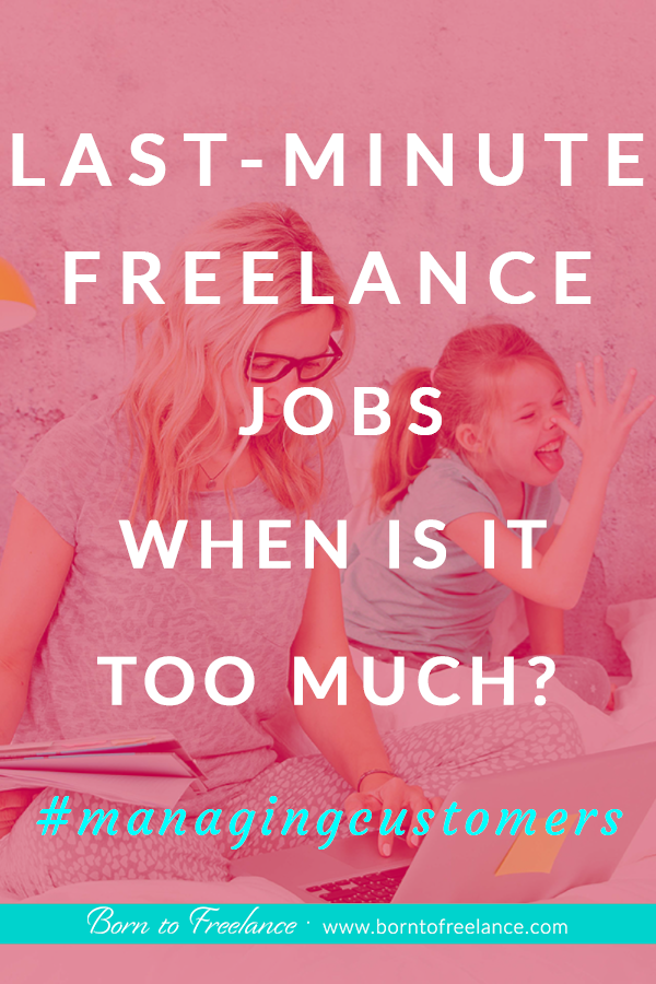 Handling last-minute jobs #lastminutejobs #freelancejobs #declinejoboffers #worklifebalance
