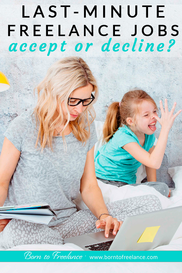 Accept or decline #lastminutejobs #freelancejobs #declinejoboffers #worklifebalance
