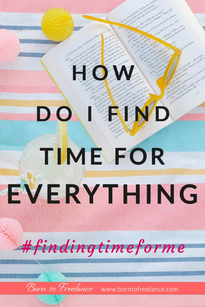 How do you find time for yourself? How do you manage everything in your life? Productivity should help you work less and get more done! Work smarter - Not harder! #maketimeforme #timemanagement #howtomaketime #worksmarternotharder #borntofreelance