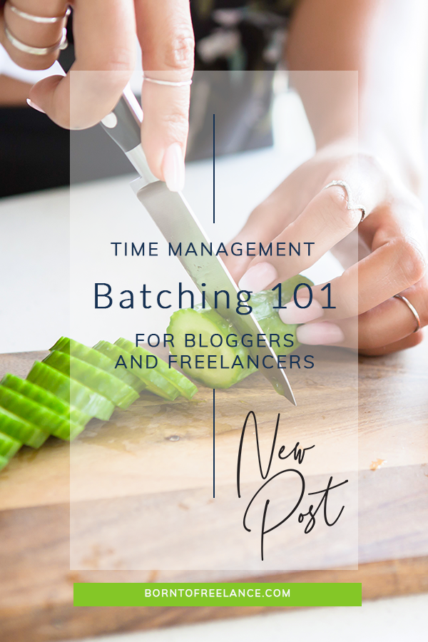How to increase your productivity with task batching for freelancers and bloggers.