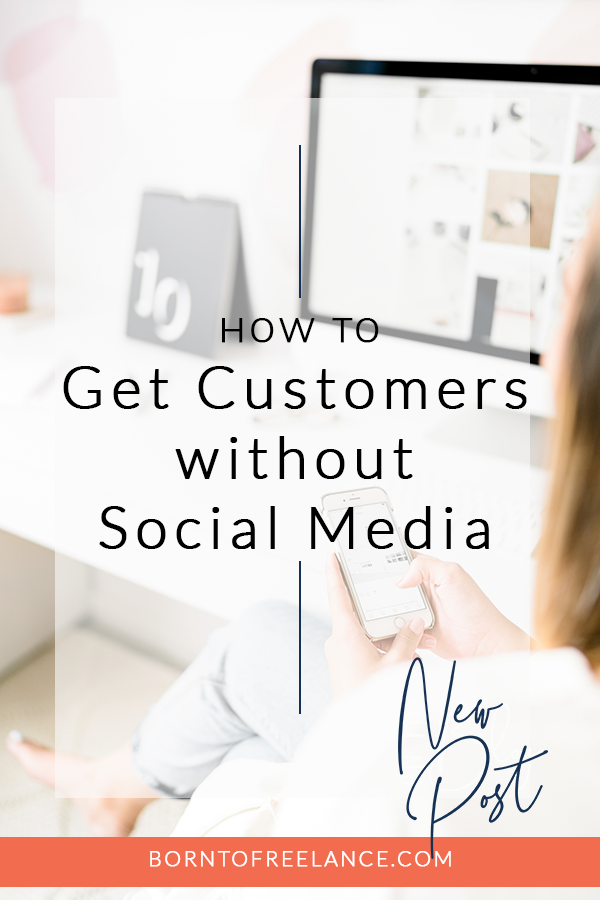 Finding customers without using social media